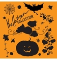 Set of fairy black halloween icons vector image vector image