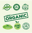 set organic natural badge stamps vector image vector image