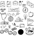 set social media business finance vector image vector image