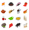Spain isometric 3d icons vector image vector image