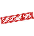 Subscribe now square grunge stamp