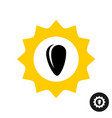 sunflower logo with black seed inside vector image vector image