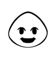 thin line grin face icon vector image vector image