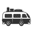 vintage travel van icon isolated on white vector image vector image