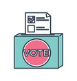 vote ballot paper with mark for candidate chosen vector image vector image