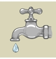 Water tap with drop engraving style