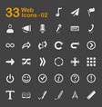 web and user interface icons vector image vector image