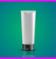 white tube mock-up for cream vector image
