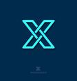 x letter monogram vector image vector image