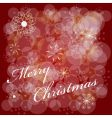 template for Christmas card vector image