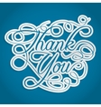 thank you words with swirls vector image