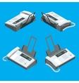 Fax machine office equipment Flat 3d vector image