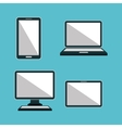 technological devices design vector image