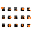 black database icons vector image