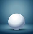 3d sphere in empty clean room vector image vector image
