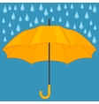 Abstract background with colored umbrella and rain vector image vector image