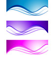 abstract elegant waves set vector image vector image