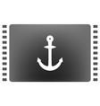 anchor solid body symbol vector image vector image