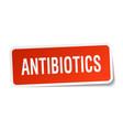 antibiotics square sticker on white vector image vector image