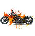 artistic stylized motorcycle racer in motion vector image