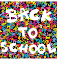 Back to school background with colored letters vector image vector image
