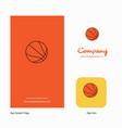basketball company logo app icon and splash page vector image vector image