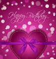 Birthday Heart gift vector image vector image