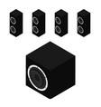 black acoustic speakers loudspeakers and vector image vector image
