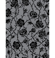 Black roses seamless pattern vector | Price: 1 Credit (USD $1)