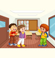 children in classroom scene vector image