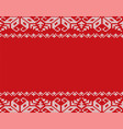christmas knitted floral geometric ornament vector image vector image