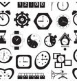 Clocks icons pattern vector image