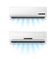 conditioners realistic air conditioning eqipment vector image