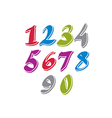 Contemporary handwritten digits numerals vector image