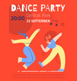 dance party advert festival flat color poster vector image vector image