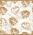delicate seamless pattern with howthorn leaves vector image