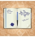 Diary Sketch Concept vector image vector image