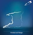 Doodle Map of Trinidad and Tobago vector image vector image