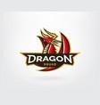 dragon logo template vector image