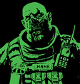 fat zombie soldiers green high vector image vector image