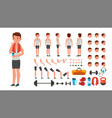 fitness man animated athlete character vector image