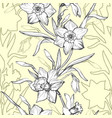 floral graphic seamless pattern with hand drawn vector image vector image