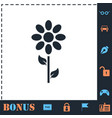 flower icon flat vector image vector image