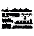 freight transport set industrial transportation vector image
