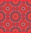 geometric flower like seamless pattern vector image