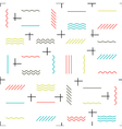 Geometric lines seamless pattern colorful Thin vector image vector image