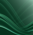 Green and black waves modern futuristic abstract vector image vector image