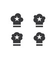 hat chef logo vector image