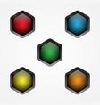 hexagon button vector image vector image