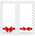 holiday gift box with red satin bow vector image vector image